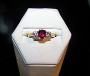 3 stone ruby and diamond ring